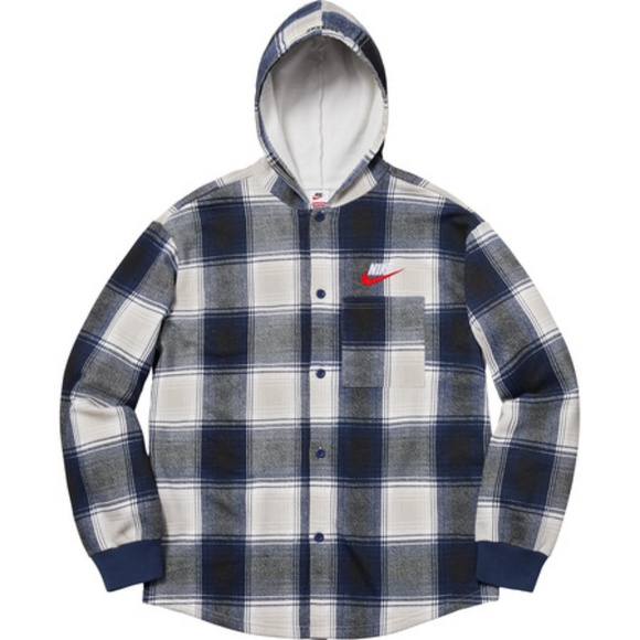 Supreme x Nike Plaid Hooded Sweatshirt NWT